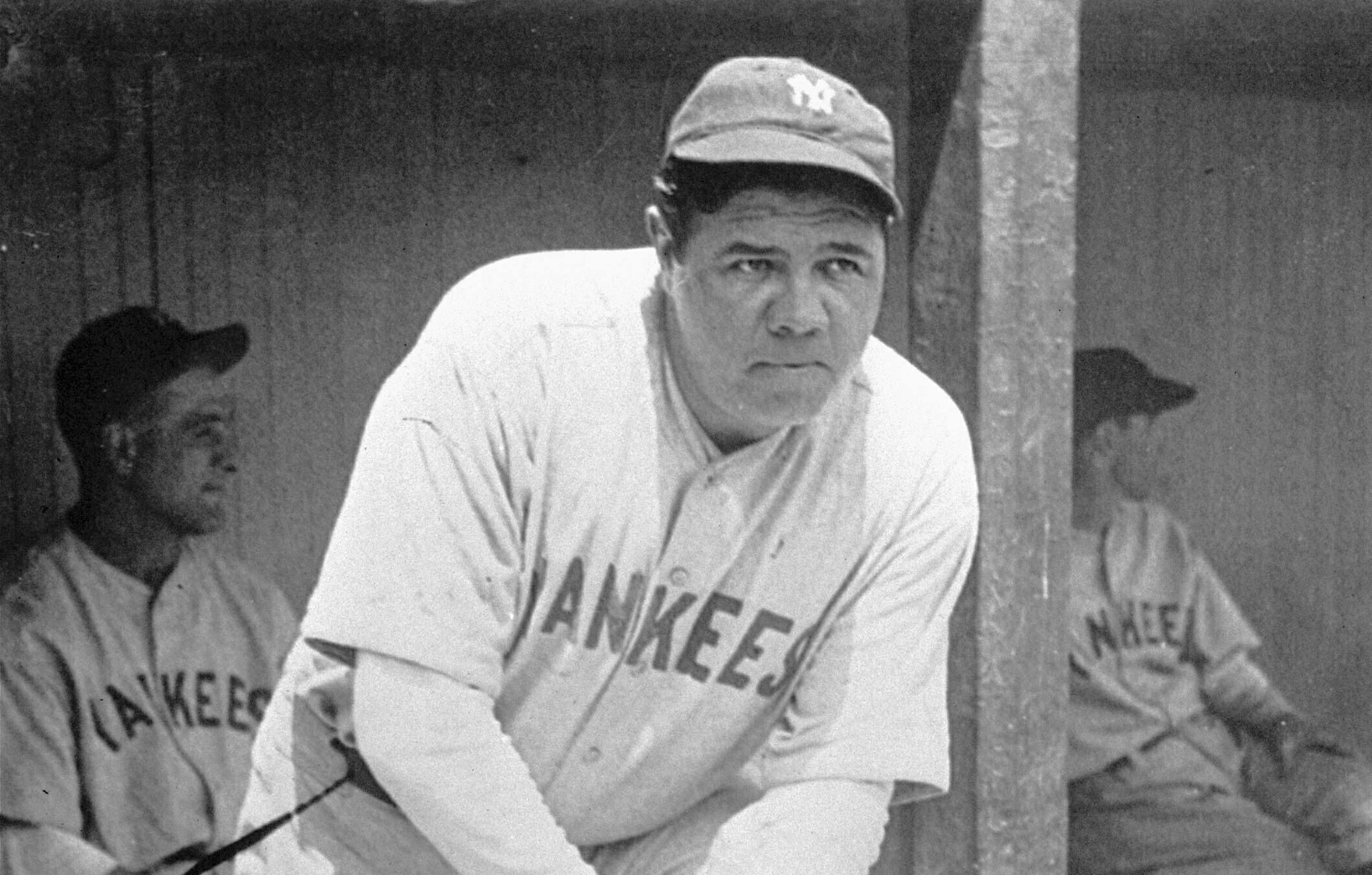What did baseball legend babe ruth keep on his head under his baseball cap?